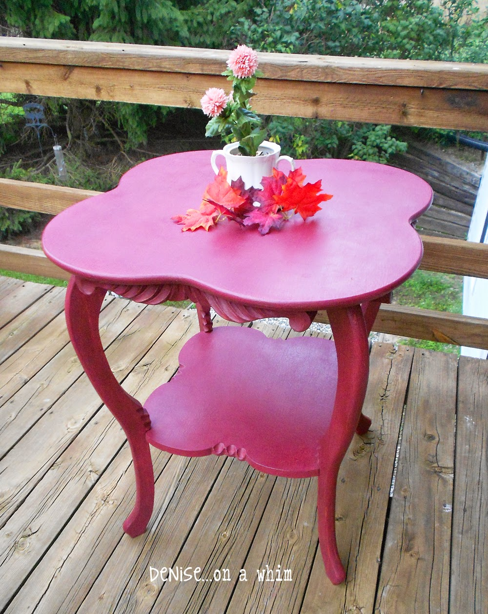 Curvy Antique Table Makeover from Denise on a Whim