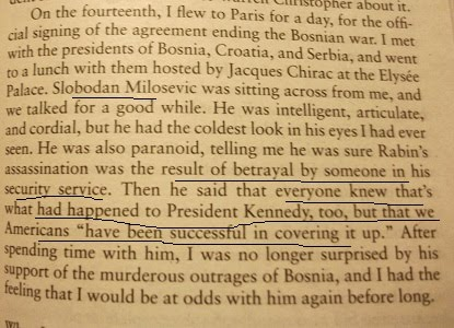 "From President Clinton's ""My Life"", page 295"
