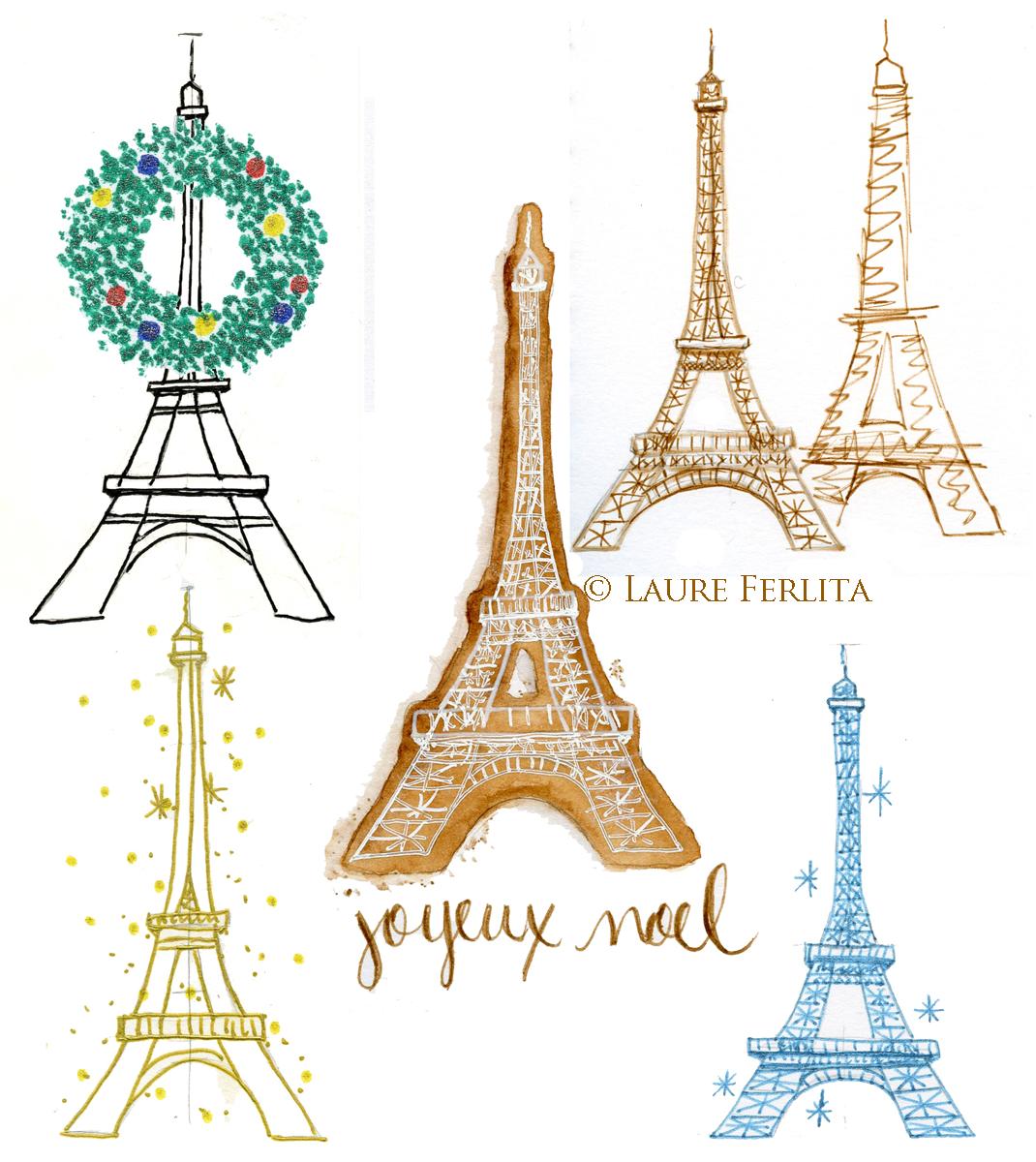 Эйфелева башня из бумаги шаблон