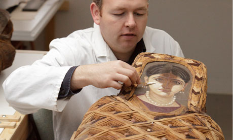 Egyptian mummy portraits go on display at Ashmolean museum