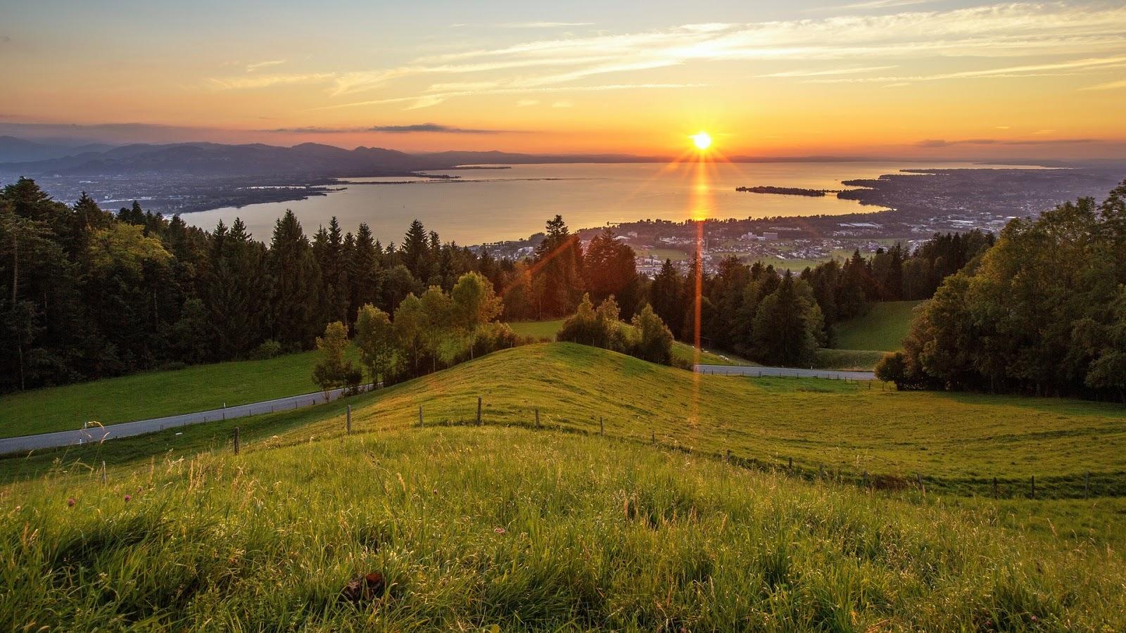 Meadows Landscape Sunset