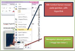 fungsi Hyperlink pada MS PowerPoint 2010 untuk membuat menu navigasi