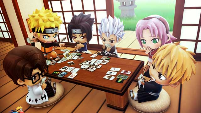 Naruto and Bleach Chibi Playing Card