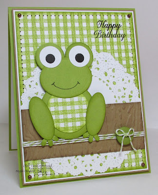 ODBD Gingham Background and Ornate Border Sentiments, Card Designer Angie Crockett