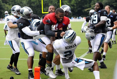 Cam Newton Fights With Josh Norman At Carolina Panthers Practice