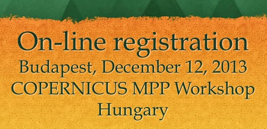 Regisztráció a COPERNICUS Műhelyre