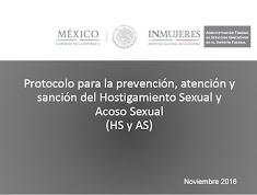 Protocolo de Hostigamiento y Acoso Sexual AFSEDF