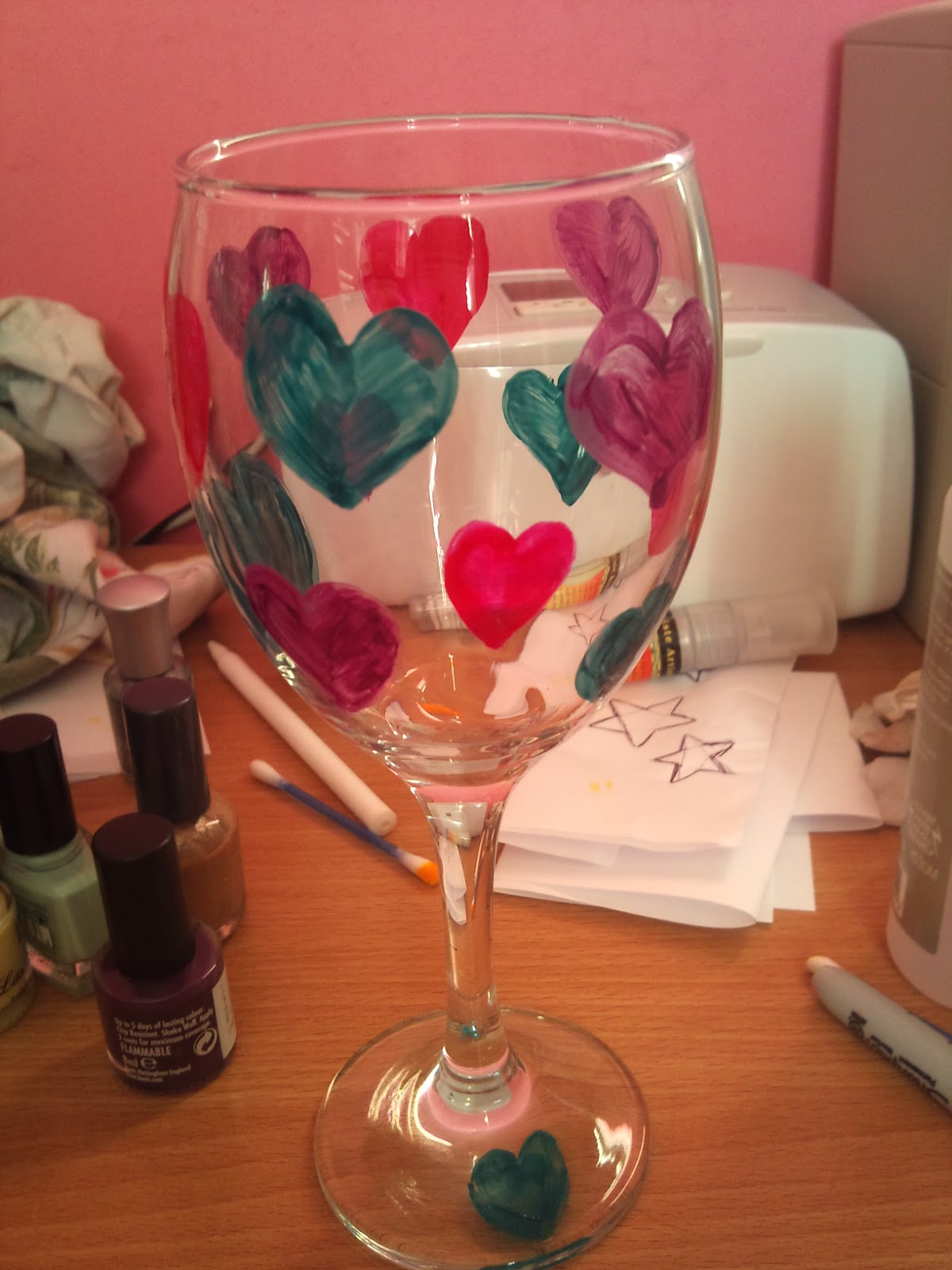 Nanna kate hand painted wine glass tutorial for Wine glass painting tutorial