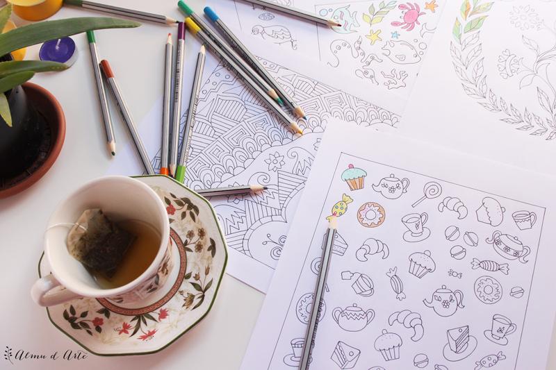 Dibujos para colorear pintados a mano