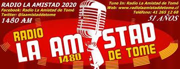 Radio La Amistad de Tomé 1480 AM (Buena música ¡Garantizado!)