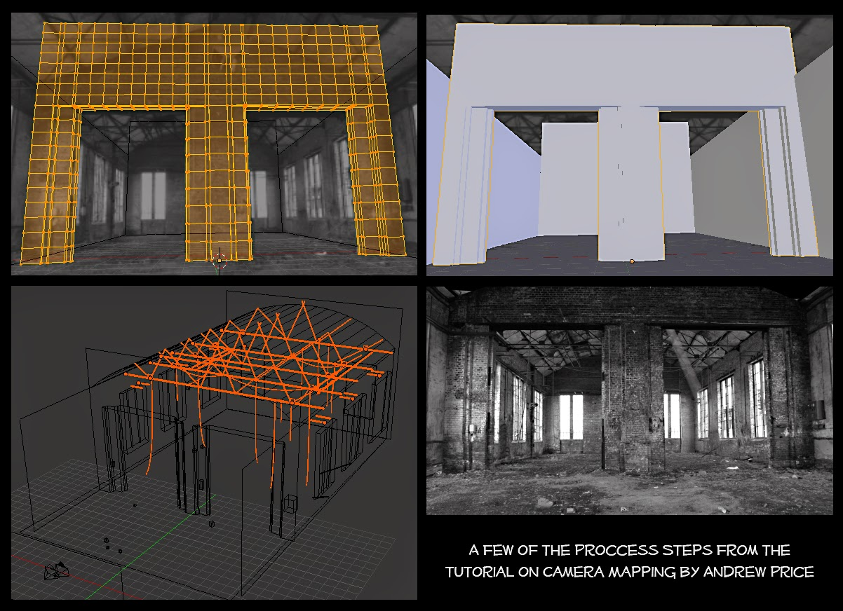 A Few Proccess Steps From Camera Mapping Tutorial By Andrew Price
