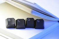 Blog spelt out in computer keys