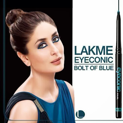 Kareena Kapoor Khan in her new Lakme ad shoot for Eyeconic Blue