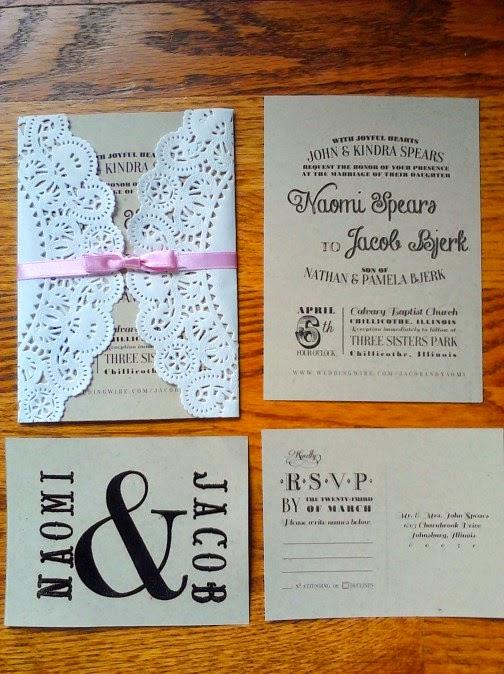 diy invitaciones y programa de boda con blondas blog de bodas