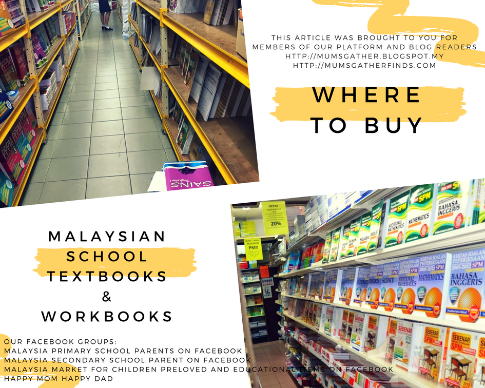 Where To Buy Malaysian School Text Books And Workbooks Parenting Times