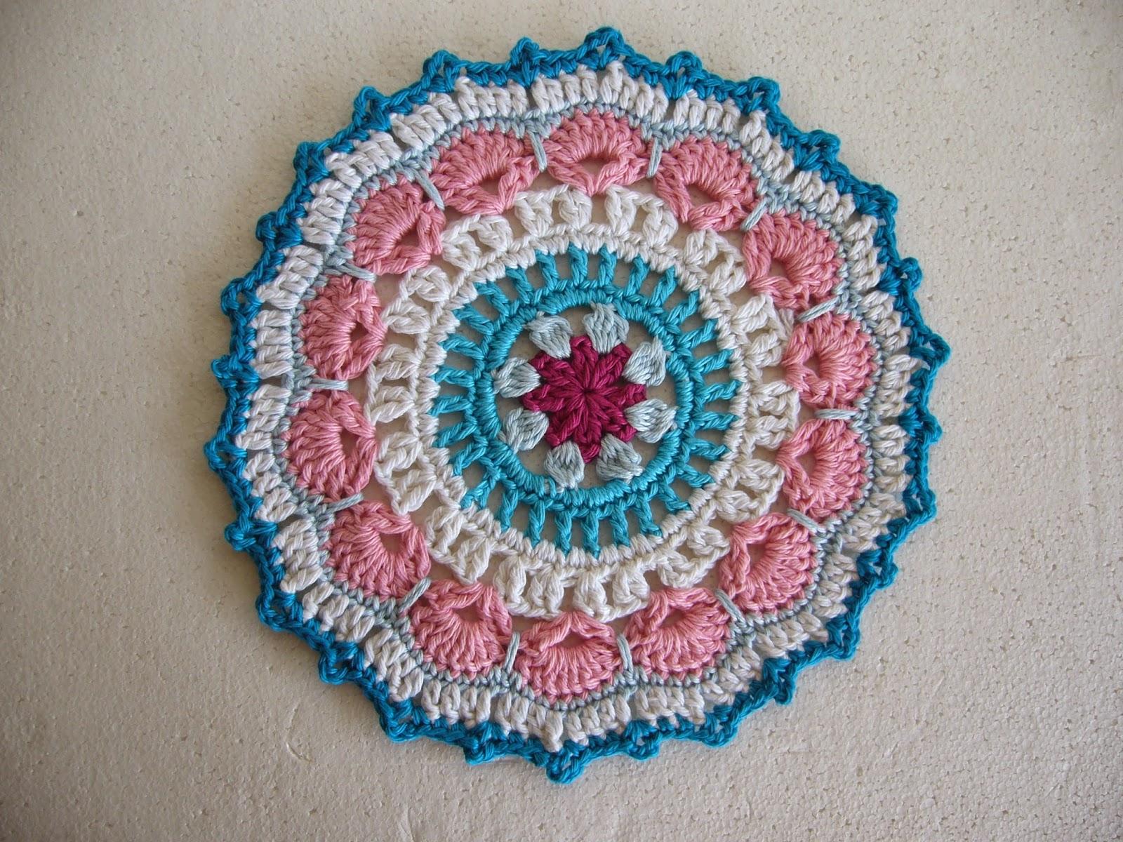 Crochet mandala blue