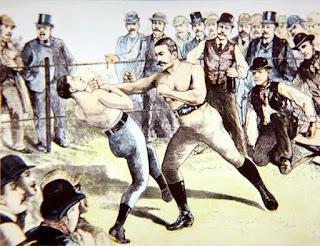 Combate John L Sullivan vs Charley Mitchell