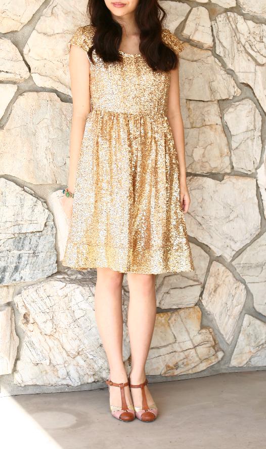 sewing- lengthened dress after diy