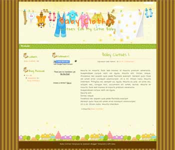 Cutie Baby blogger template. cute design blogger template. cute blogpot template free
