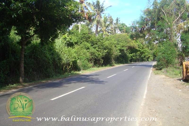 Akses dijalan Utama Lokasi Tanah yang Dijual