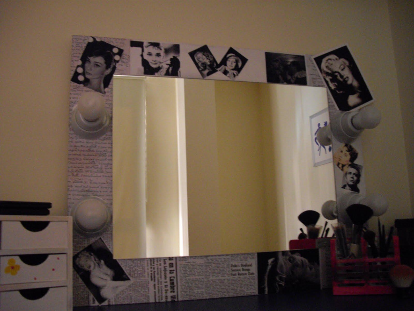 Empezando a cuidarme mi rinc n de maquillaje - Espejos con bombillas ...