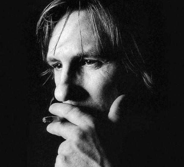 Fotografias a preto e branco de celebridades - Gerard Depardieu