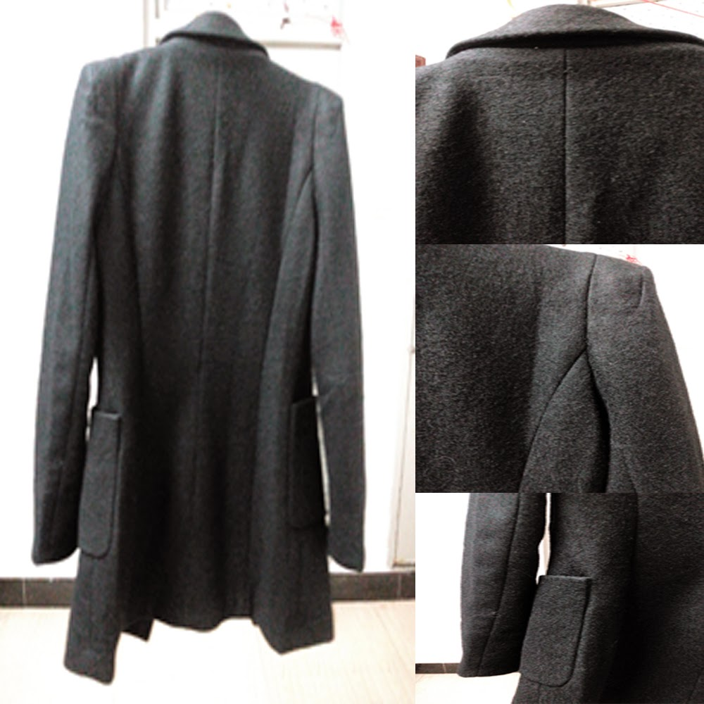 Long Black Blazer Coat 3