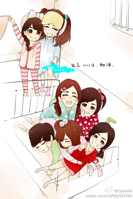 FANART T-ARA MEMBER CARTOON PICTURE