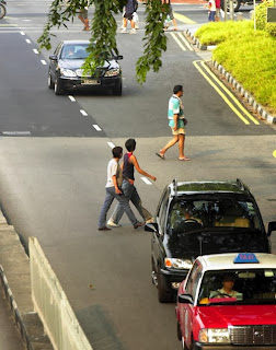 Jaywalking Is An Offence in Singapore