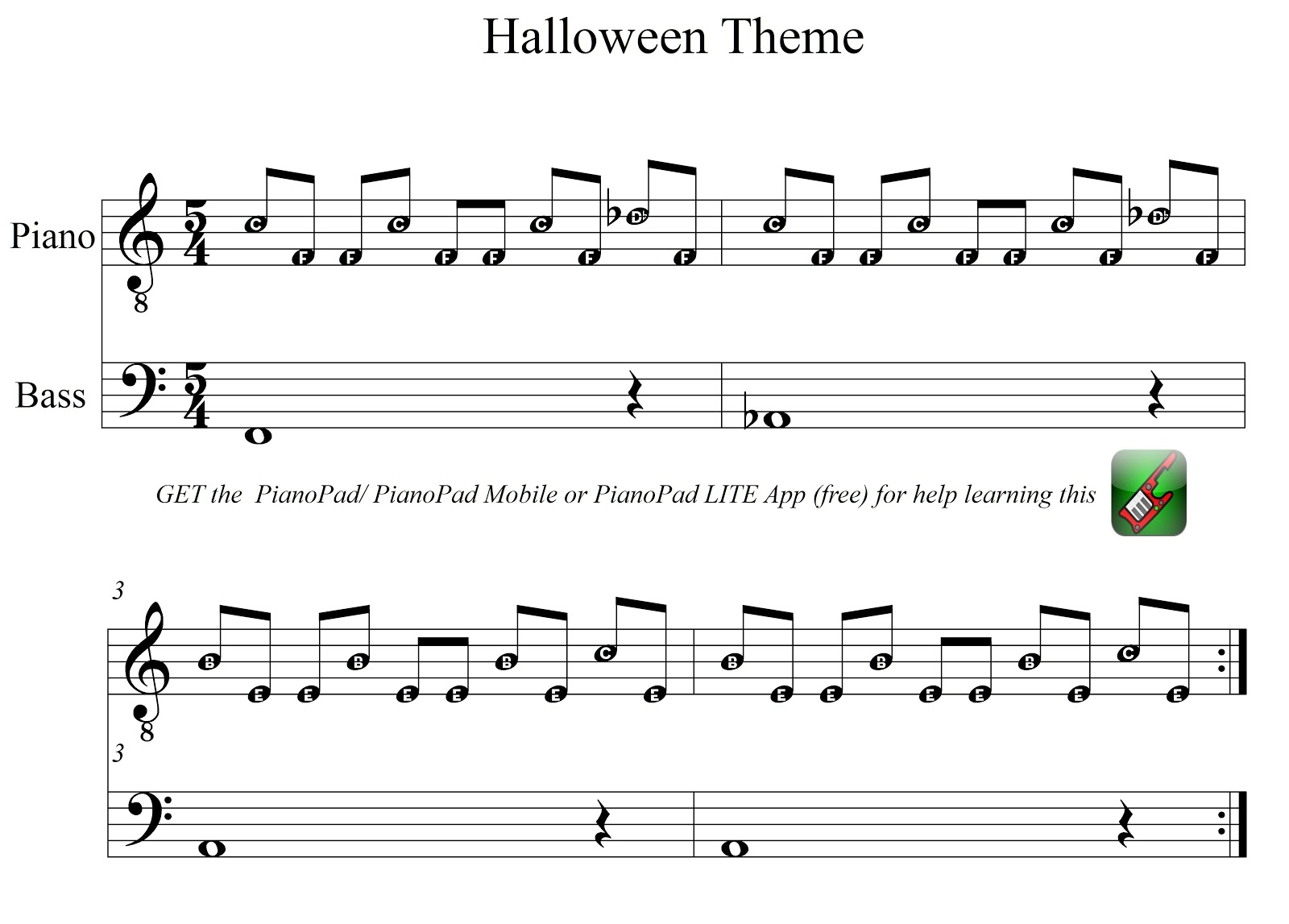 pianopad upload community reposted in time for oct 31 this song pianopad upload community reposted in time for oct 31 this song halloween theme song - Halloween Theme Song Guitar