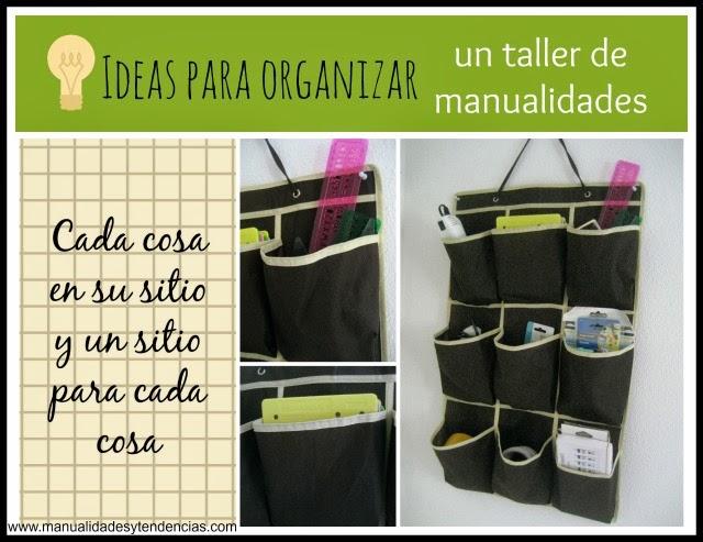 Organizador para materiales de manualidades / Craft room organization / Organiser atelier de loisirs créatifs