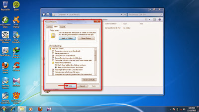 How to show hidden folder and files in windows 7 step13
