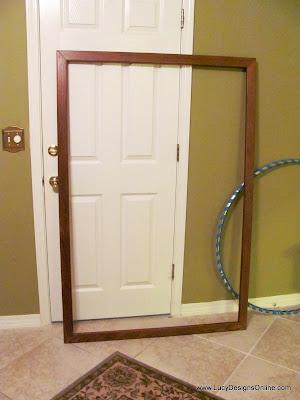 large wood mirror frame