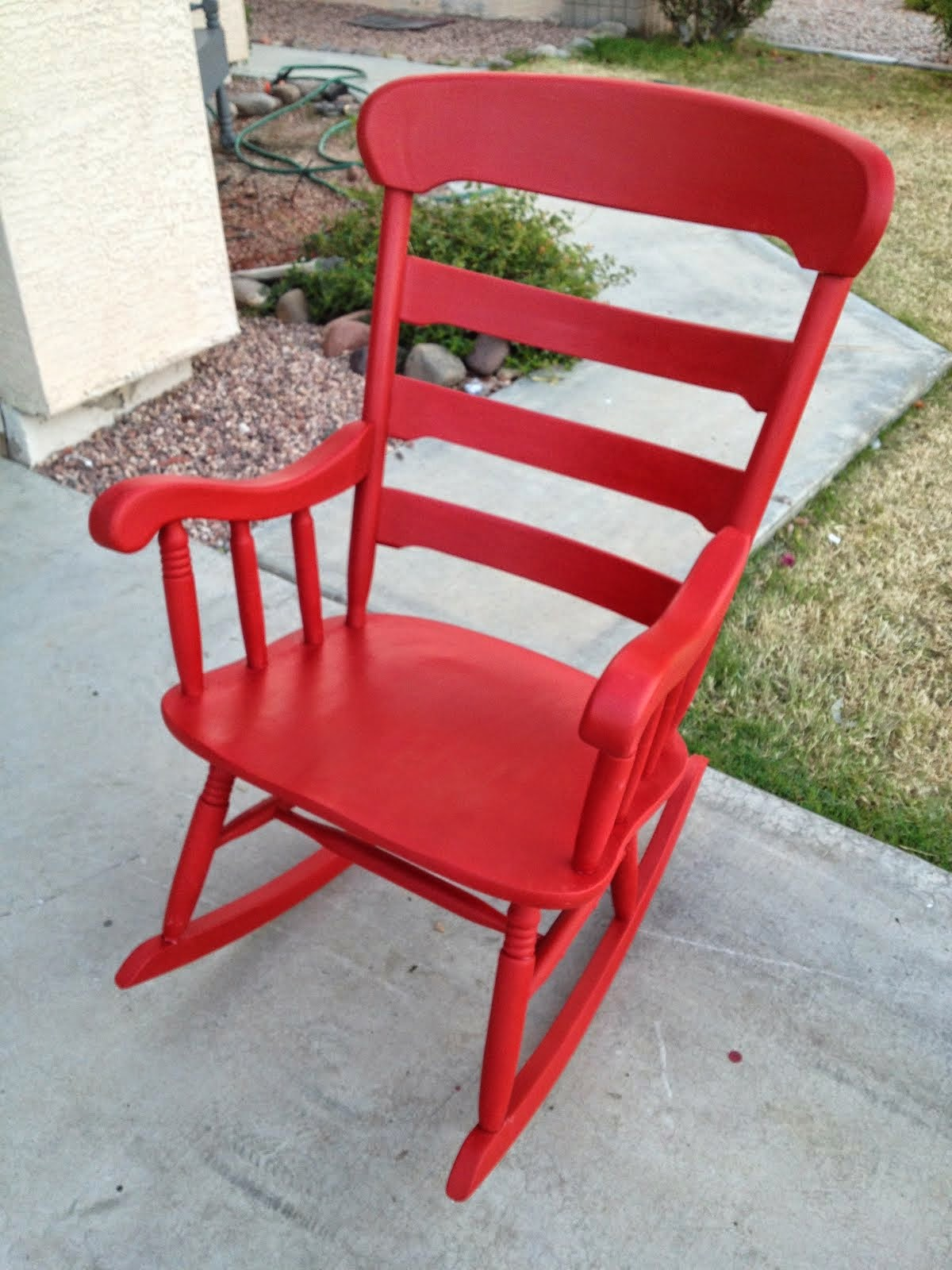 Red Rocking Chair  *SOLD*
