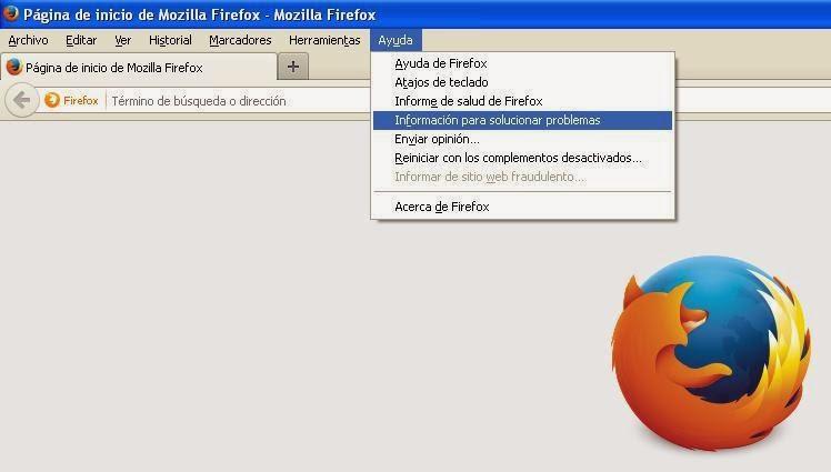 Menú Firefox
