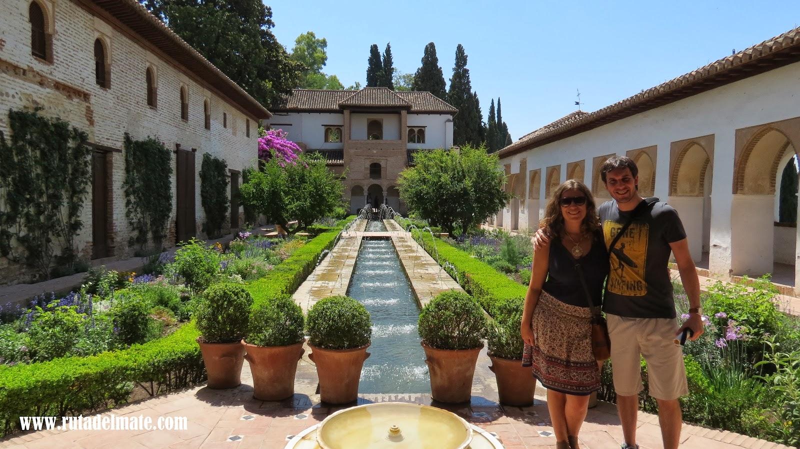 Granada descubriendo la fortaleza roja ruta del mate for Jardines nazaries