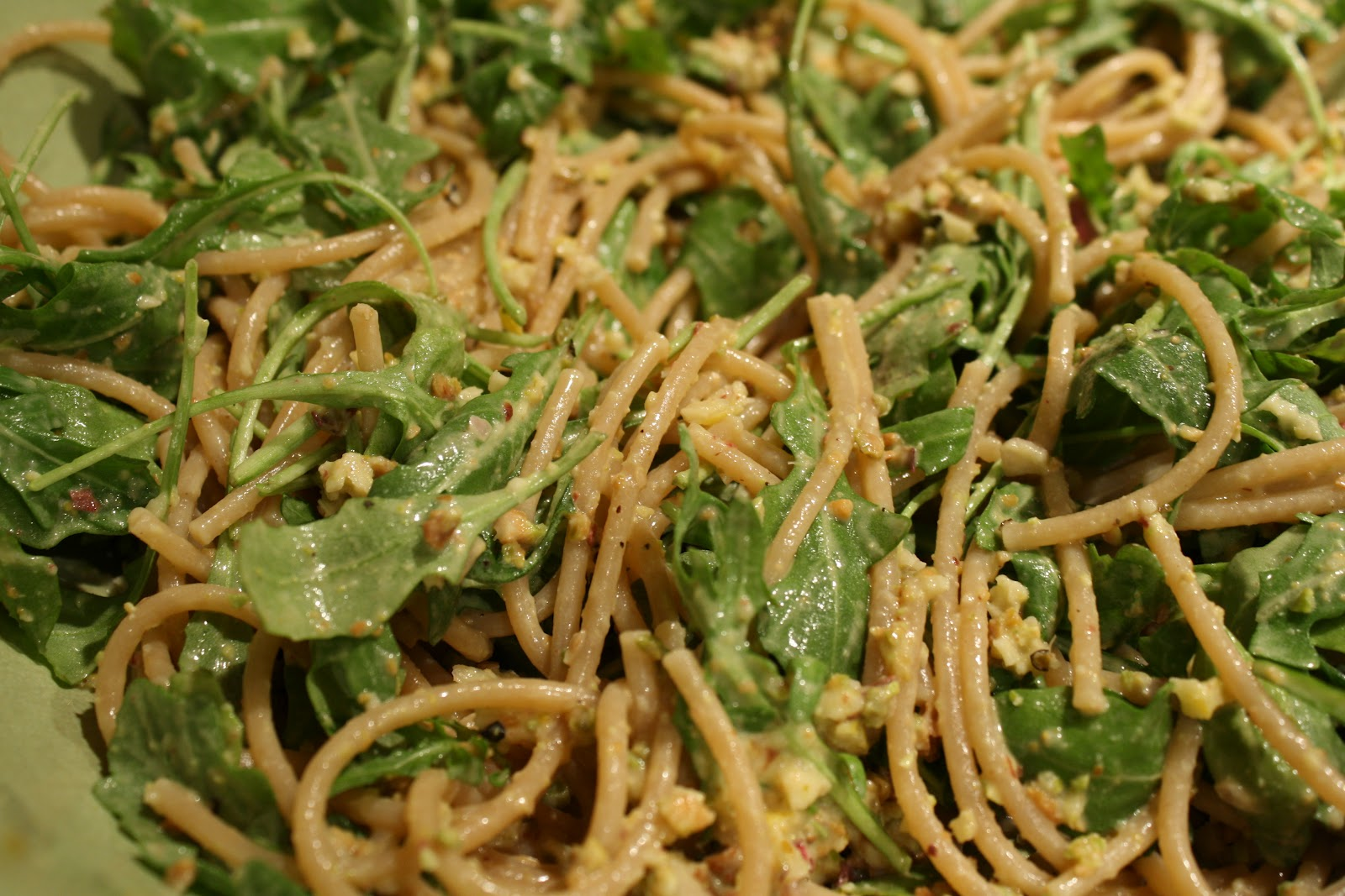 Monday: Whole Wheat Spaghetti with Lemon, Arugula, and Pistachios ...