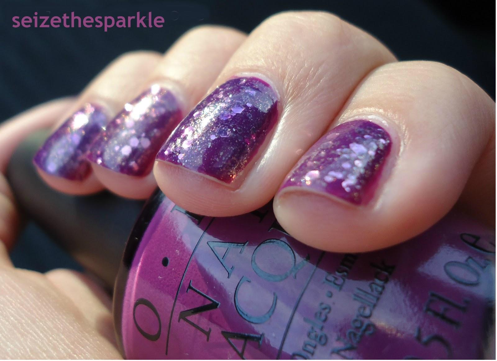 Purple Jelly Glitter Sandwich