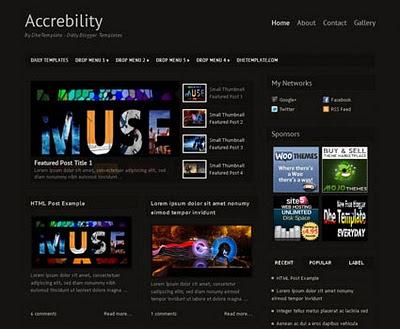 accrebility blogger template