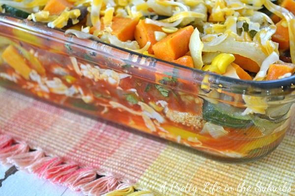 Roasted Vegetable Tortilla Lasagna