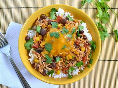 Vietnamese Chicken Recipes - Cơm Cuộn Taro Gà Cay