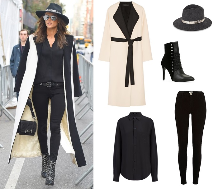 Alessandra Ambrosio, street style, fashion, style, celeb, monochrome, OOTD