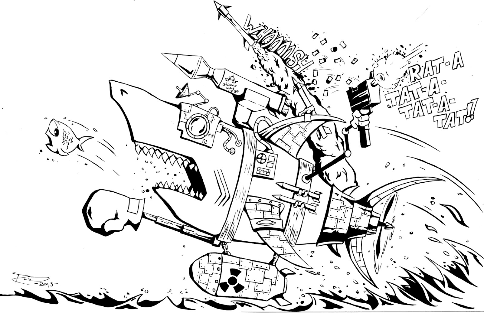 phil rood illustration robot sharks nature u0027s perfect predators