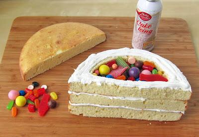 Cake πινιάτα ουράνιο τόξο-tutorial_3