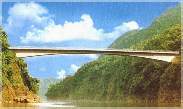 Jembatan Jadukata, di Ranikor, Indoa