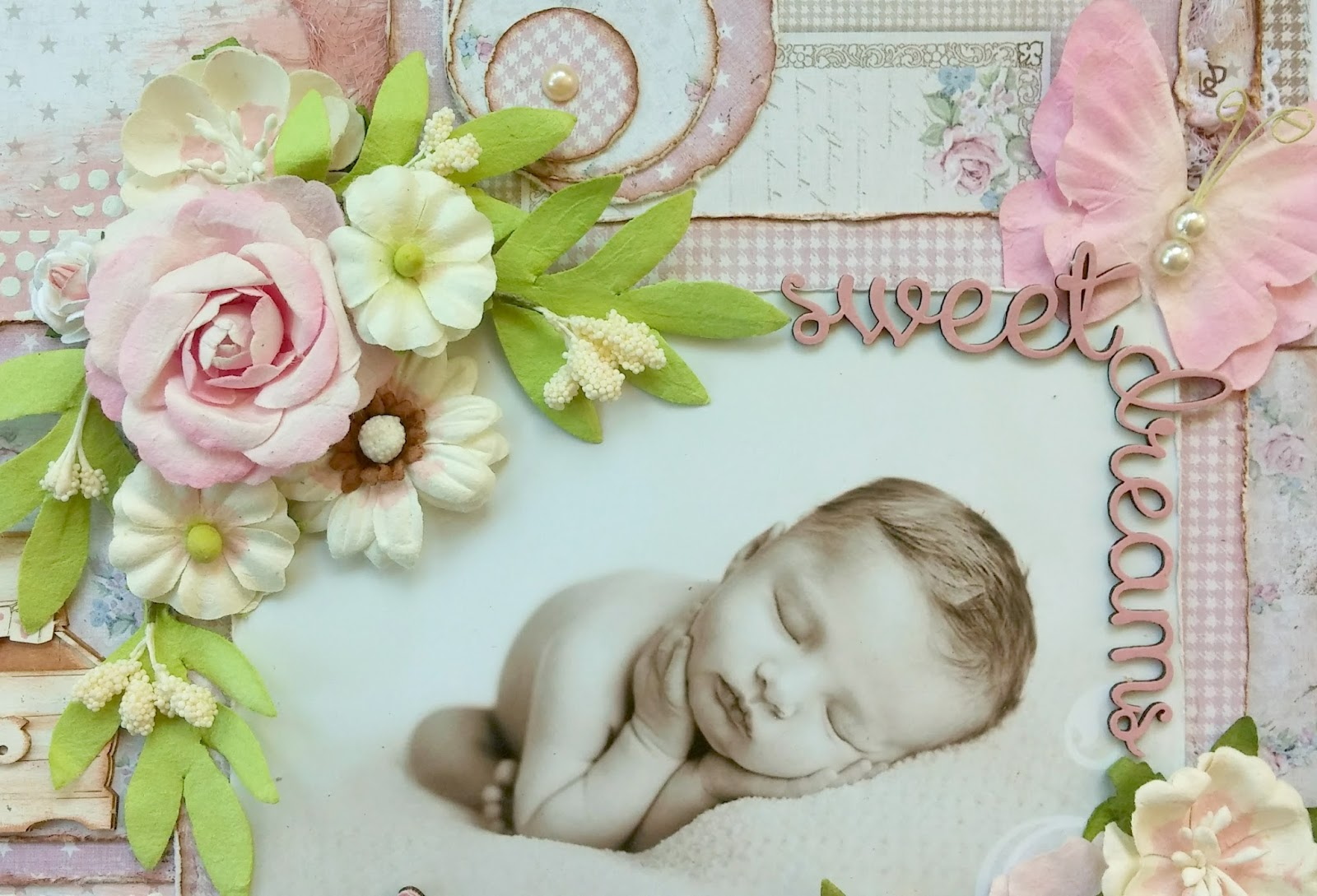 Baby girl scrapbook ideas -  Look Into Your Baby Scrapbook Pages And At The Same Time One Of My Other Design Teams Dusty Attic Came Out With The Cutest Chippies For Baby Layouts