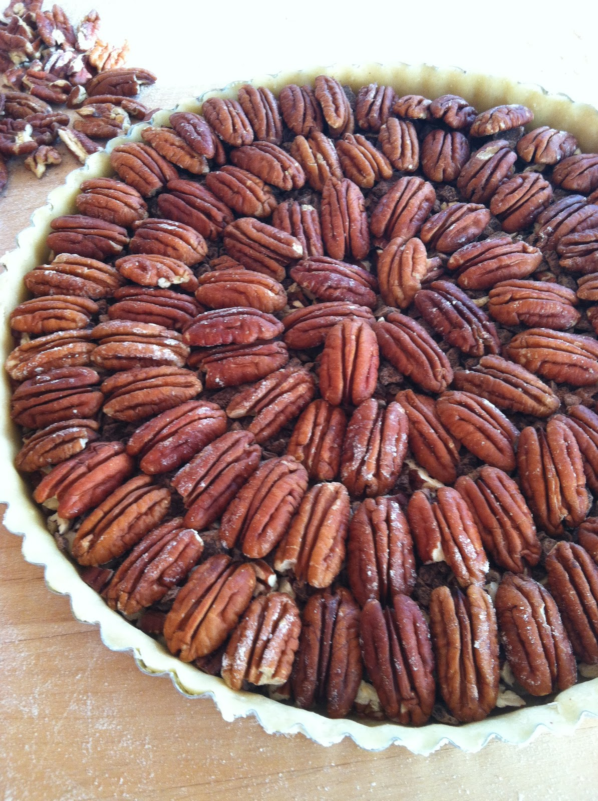 ... to Food: Chocolate Pecan Tart w/ Bourbon Crème Fraîche Whipped Cream