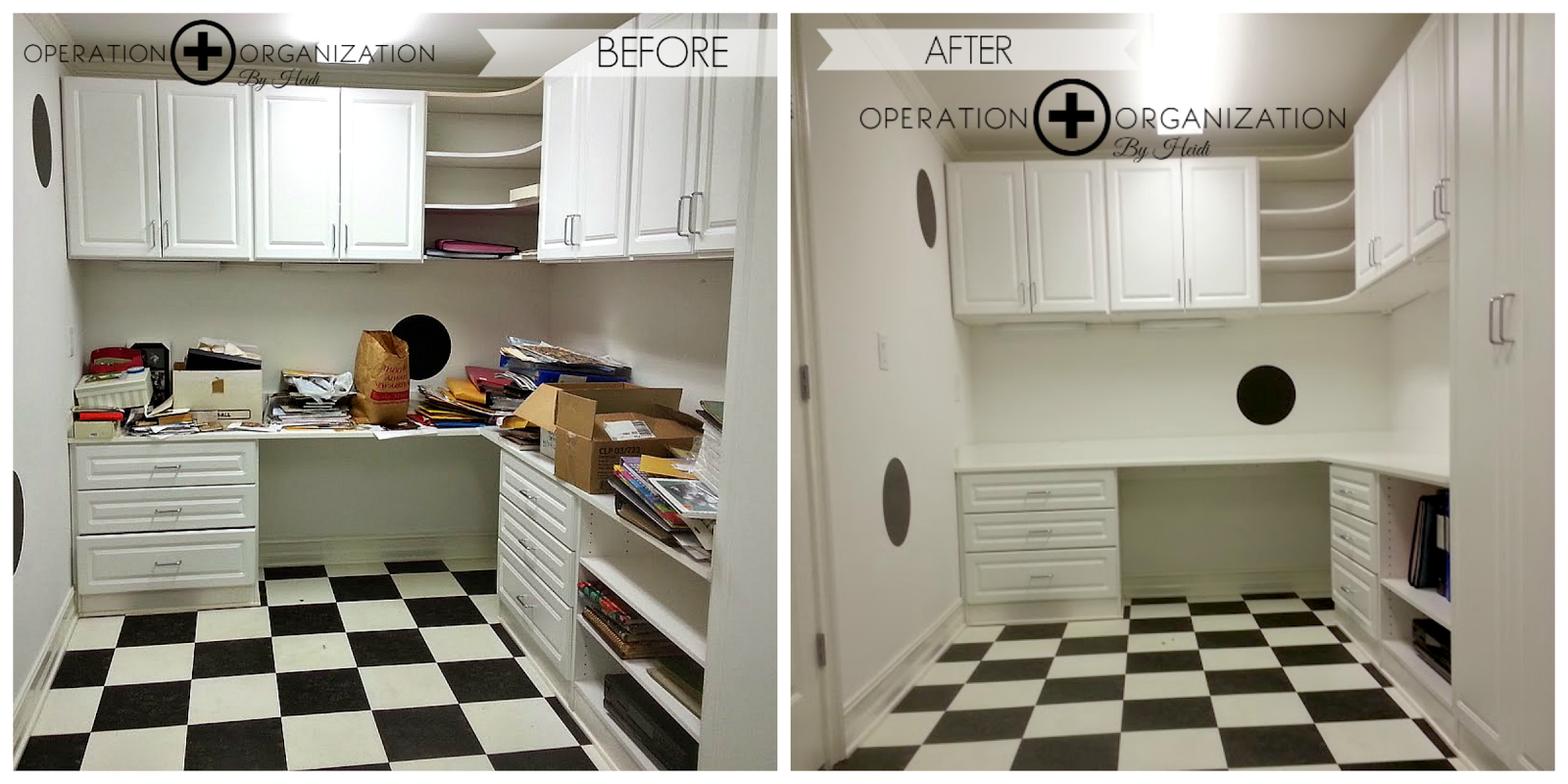 Craft Room Before and After - Operation Organization by Heidi, Peachtree City, Ga Professional Organizer.
