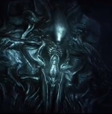 Ashens and aliens me likey for Prometheus xenomorph mural