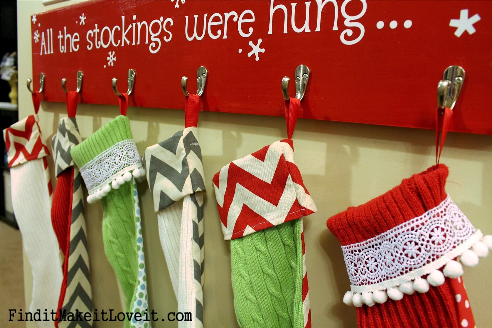 Diy stockings from thrift store sweaters find it make it love it solutioingenieria Choice Image
